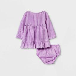 Baby Girls' Gauze Dress - Cat & Jack™ Lilac | Target