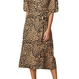 Elfrida Animal Print Midi Wrap Dress | Nordstrom