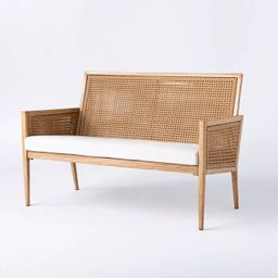 Benmore Wicker & Faux Wood Patio Loveseat - Threshold™ designed with Studio McGee   Target