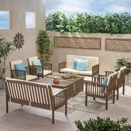 Carolina 8pc Acacia Patio Seating Set - Christopher Knight Home   Target