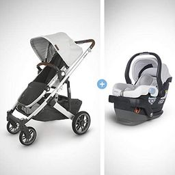 UPPAbaby Cruz V2 Stroller - Bryce (White Marl/Silver/Chestnut Leather) + Mesa Infant Car Seat - B... | Amazon (US)