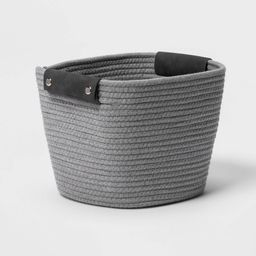 """11"""""""" Square Coiled Rope Basket Gray - Threshold 