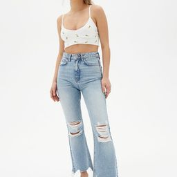 BDG Wilco Destroyed High-Waisted Cropped Flare Jean | Urban Outfitters (US and RoW)