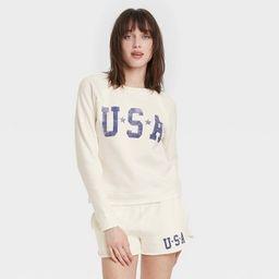 Women's USA Graphic Sweatshirt - White M | Target