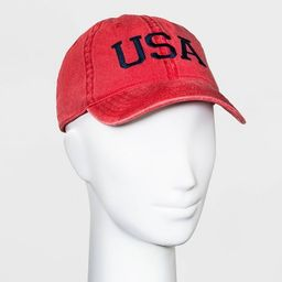 Mighty Fine Adult USA Baseball Cap - Red | Target
