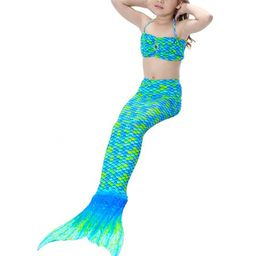 3pcs Girls Mermaid Tail Swimwear Bikini Set Swimsuit Bathing Suit | Walmart (US)