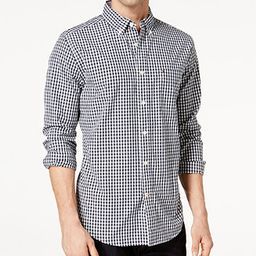 Tommy Hilfiger Men's Twain Classic-Fit Stretch Check Shirt & Reviews - Casual Button-Down Shirts ... | Macys (US)