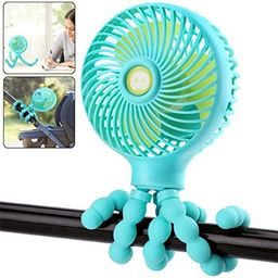 OPOLEMIN Mini Baby Stroller Fan, Personal Portable Car Seat Baby Fan with Flexible Tripod, USB or... | Amazon (US)