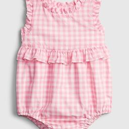 Baby Gingham Bubble One-Piece | Gap (US)