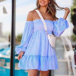 Picnic In The Park Dress - Blue | Hazel and Olive