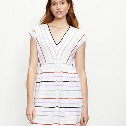 Striped V-Neck Swing Dress   LOFT