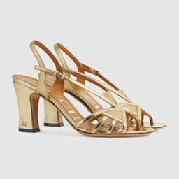 Women's sandal with mini DoubleG   Gucci (US)