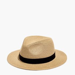 Packable Straw Fedora Hat   Madewell