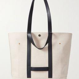 Beige Leather-Trimmed Linen and Cotton-Blend Tote Bag   DUNHILL   MR PORTER   Mr Porter (US & CA)