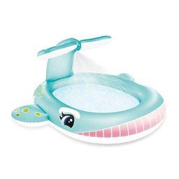"Intex 57440EP 79"" x 77"" x 36"" Inflatable Whale Spray Kiddie Pool for Kids 2+ | Target"
