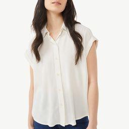 Free Assembly Women's Short Sleeve Button-Down Shirt   Walmart (US)