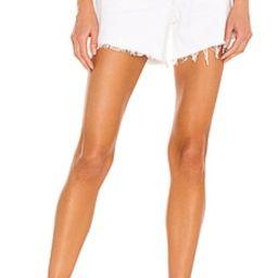 AGOLDE Parker Long Short in Panna Cotta from Revolve.com | Revolve Clothing (Global)