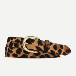 Calf hair belt in leopard | J.Crew US