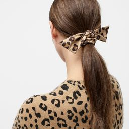 Knotted hair tie in leopard | J.Crew US