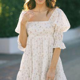 Alexandra Square Neck Mini Dress | Morning Lavender