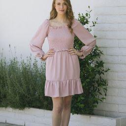 Trisha Smocked Ruffled Mini Dress | Morning Lavender