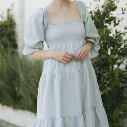 Joelle Smocked Plaid Dress | Morning Lavender