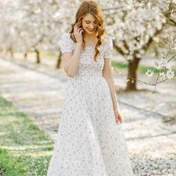 Laura Smocked Floral Maxi Dress | Morning Lavender