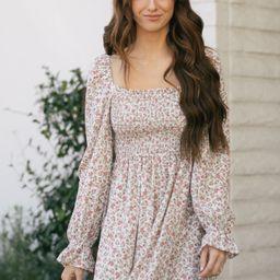 Cora Floral Babydoll Mini Dress | Morning Lavender