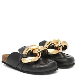 Embellished leather slippers | Mytheresa (US)