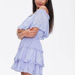 Off-the-Shoulder Floral Print Dress   Forever 21 (US)