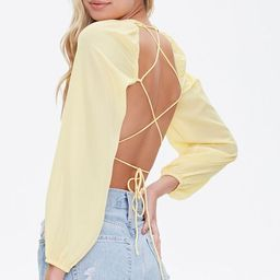 Lace-Back Crop Top   Forever 21 (US)