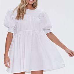 Puff-Sleeve Mini Dress   Forever 21 (US)