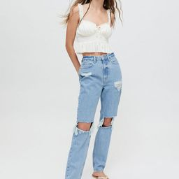 BDG High-Waisted Distressed Mom Jean   Urban Outfitters (US and RoW)