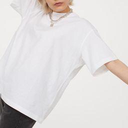 Wide-cut Cotton T-shirt   H&M (US)