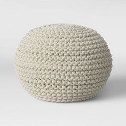 Cloverly Chunky Knit Pouf - Threshold™   Target