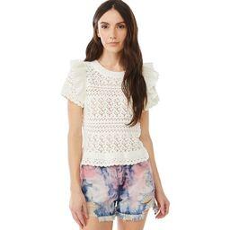 Scoop Women's Eyelet T-Shirt with Ruffle Trim   Walmart (US)