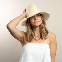 Fringe Packable Travel Hat- Natural   Hat Attack
