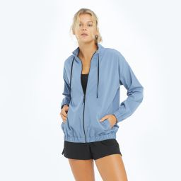 The On-The-Go Zip-Up Jacket - Slate | SummerSalt