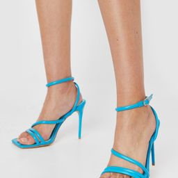 Faux Leather Strappy Heeled Sandals | NastyGal
