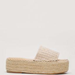 Woven Faux Suede Open Toe Flatform Sandals | NastyGal