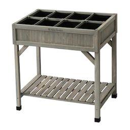 VegTrug 8-Pocket Gray Herb Garden-RHP6007GWUSA - The Home Depot | The Home Depot