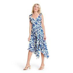 Botanical Tie Strap Asymmetrical Hem Dress - ALEXIS for Target Blue   Target