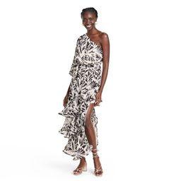 Botanical One Shoulder Ruffle Dress - ALEXIS for Target Black   Target