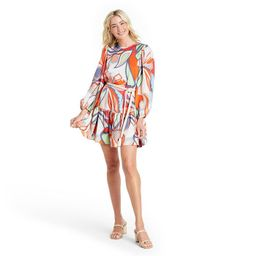 Mixed Floral Long Sleeve Rope Belt Tiered Dress - ALEXIS for Target   Target