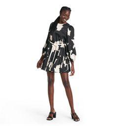 Long Sleeve Rope Belt Tiered Dress - ALEXIS for Target Black   Target
