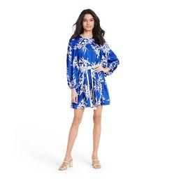 Floral Long Sleeve Rope Belt Tiered Dress - ALEXIS for Target Blue   Target