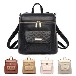 Petit Monaco Mini Diaper Bag by Luli Bebe - Vegan Leather Diaper Bag Backpack with Luxury Quilted... | Amazon (US)
