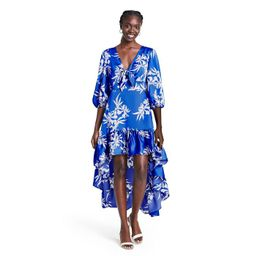 Floral Tie-Front High-Low Dress - ALEXIS for Target Blue   Target