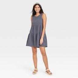 Women's Gauze Tiered Tank Dress - Universal Thread™ | Target