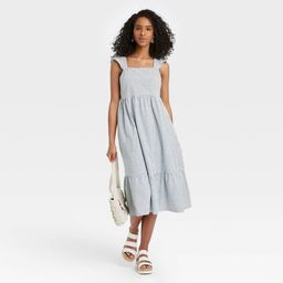 Women's Striped Ruffle Sleeveless Dress - Universal Thread™ Blue | Target